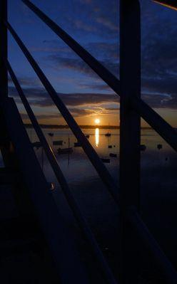 levé de soleil sur le port