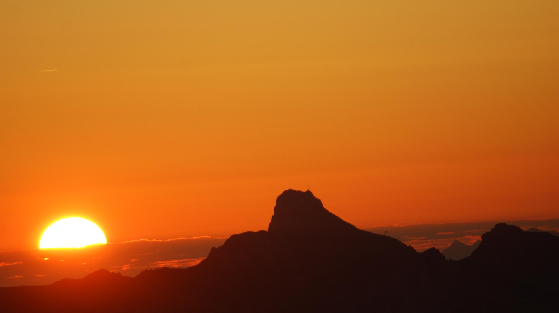 levé de soleil sur les hauteurs