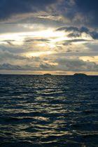 Levé de soleil sur l'île de la martinique