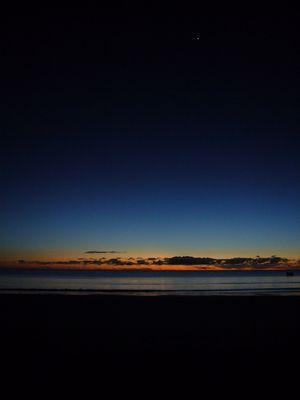 Levé de soleil sur l'Océan