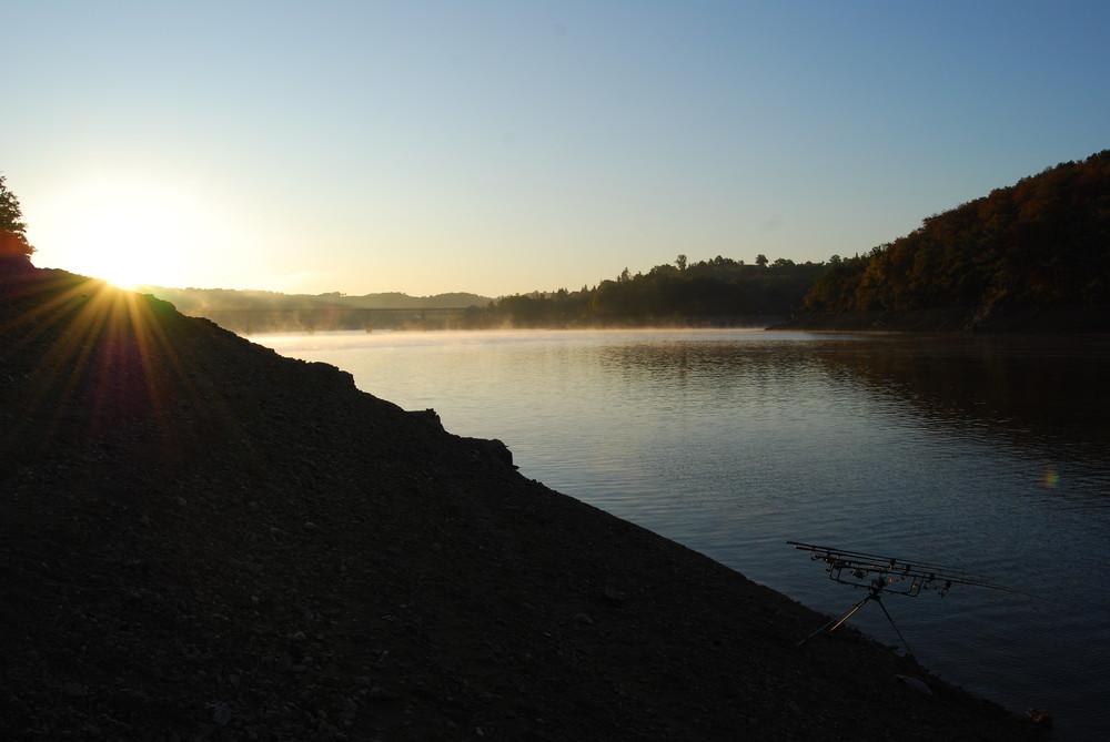 leve du jour sur le barrage