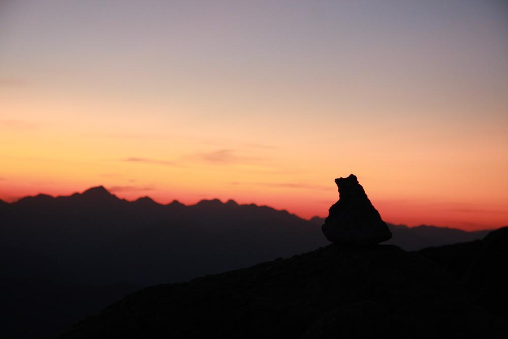Lever de soleil à 3000 mètres