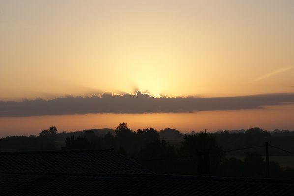 lever de soleil à Bourgougnague