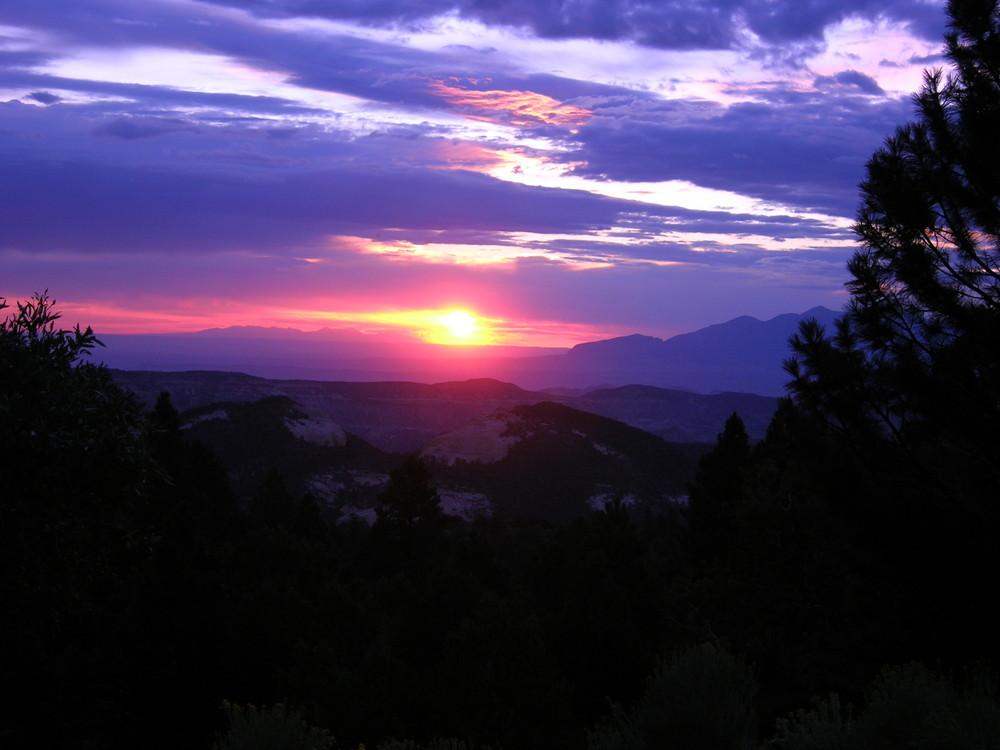 lever de soleil à Bryce N.P. usa