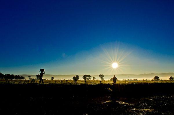 Lever de soleil à Imerimitatra