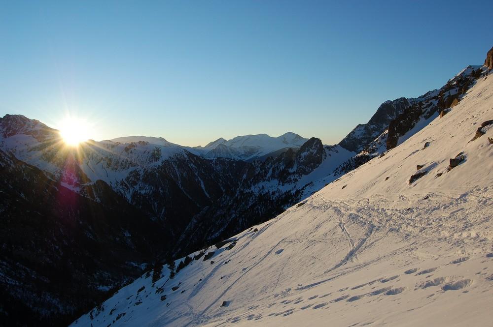 Lever de soleil dans les Pyrénées espagnoles