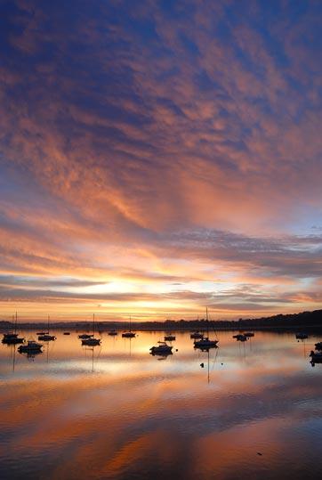 Lever de soleil du 23 octobre 2007 sur la Rance