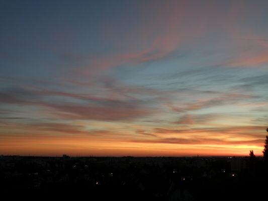 Lever de soleil sur Dijon