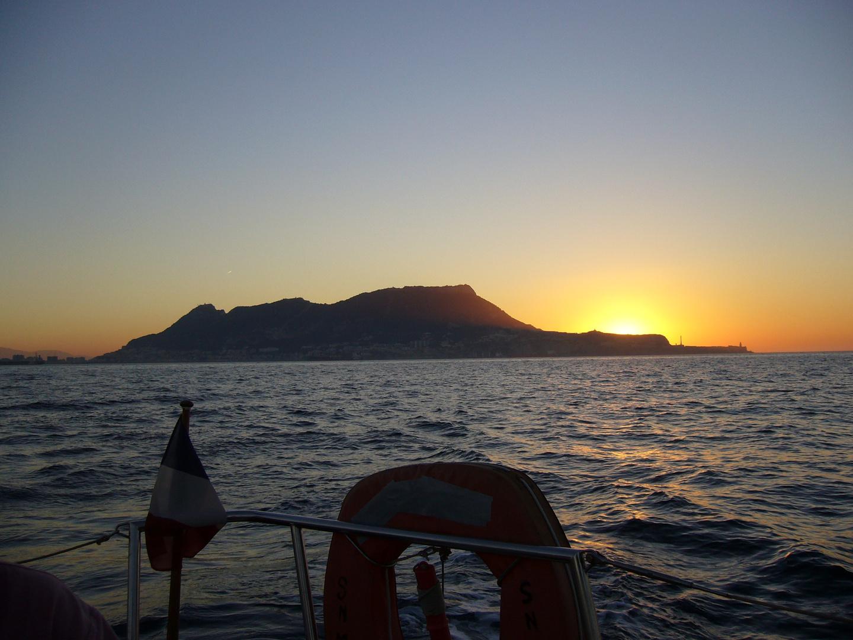 Lever de soleil sur Gibraltar