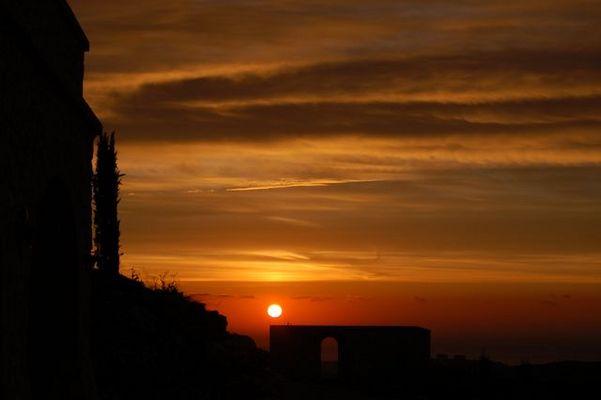 Lever de soleil sur la Méditerrannée...