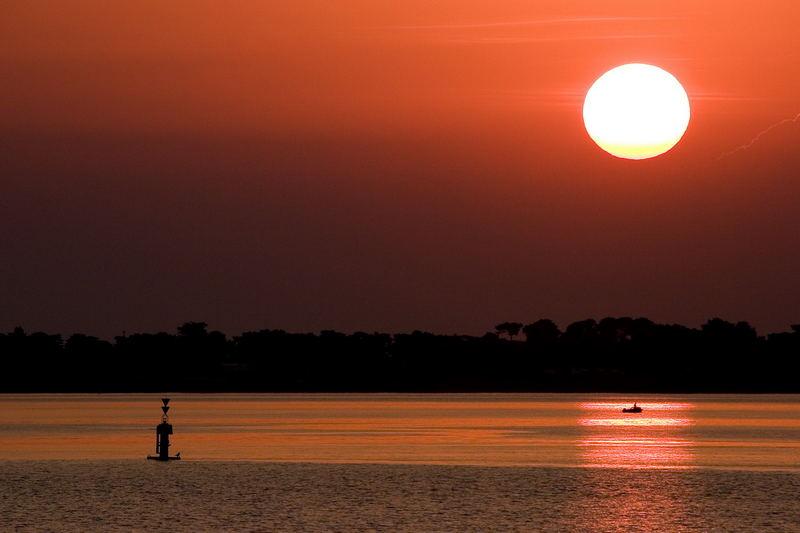 lever de soleil sur l'estuaire de la Loire