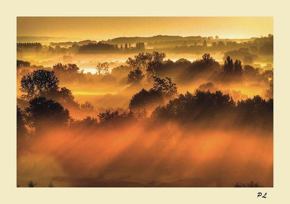 Lever de soleil sur ma campagne