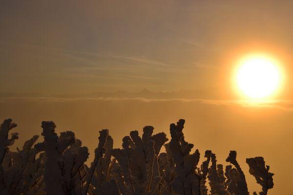 lever du soleil dans les Alpes