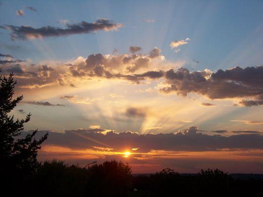 lever du soleil en Beaujolais