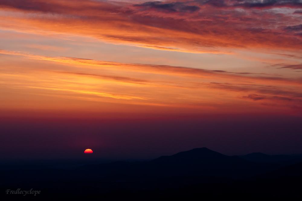 Lever du soleil sur le Pays Basque