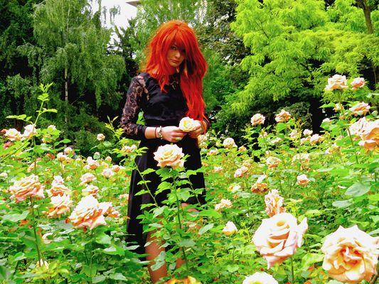 leya Smith ma Muse, premières photos avec un model (photo prise dans le parc de Monceau) Paris