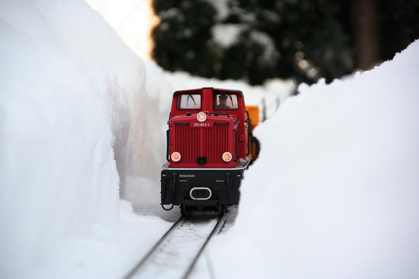 LGB V52 im Schnee