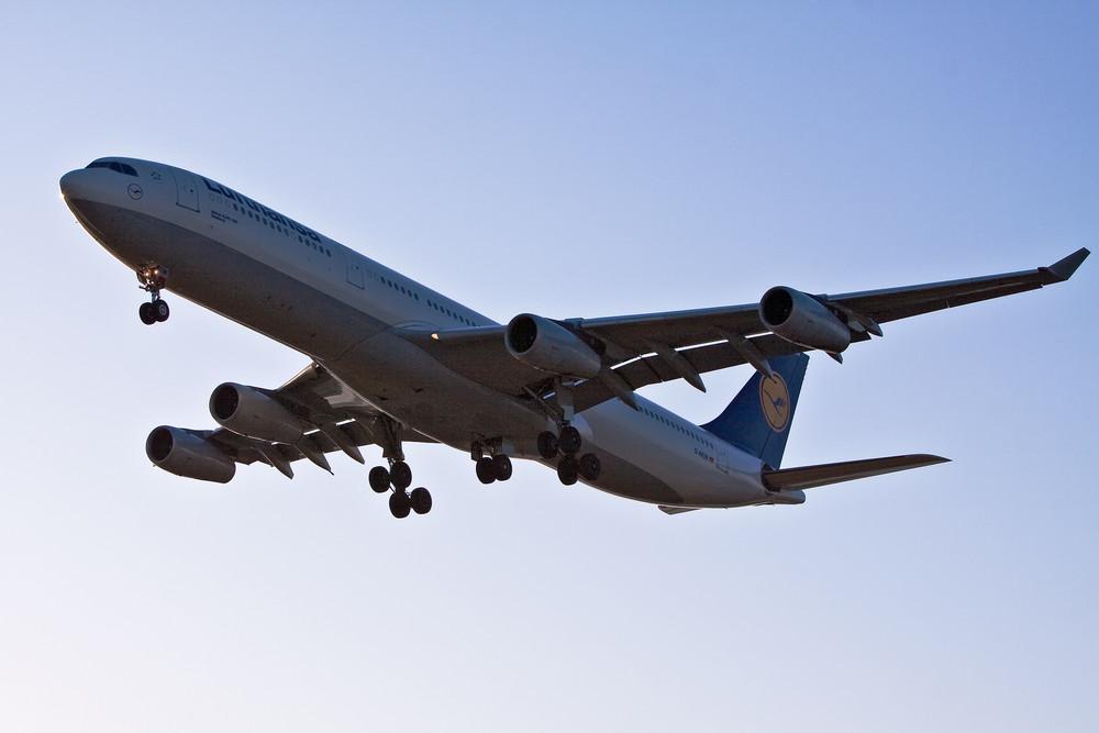 LH718 kurz vor der Landung