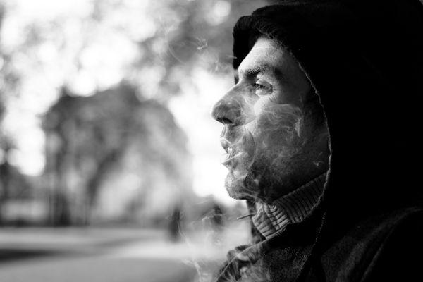 l'homme à la fumée