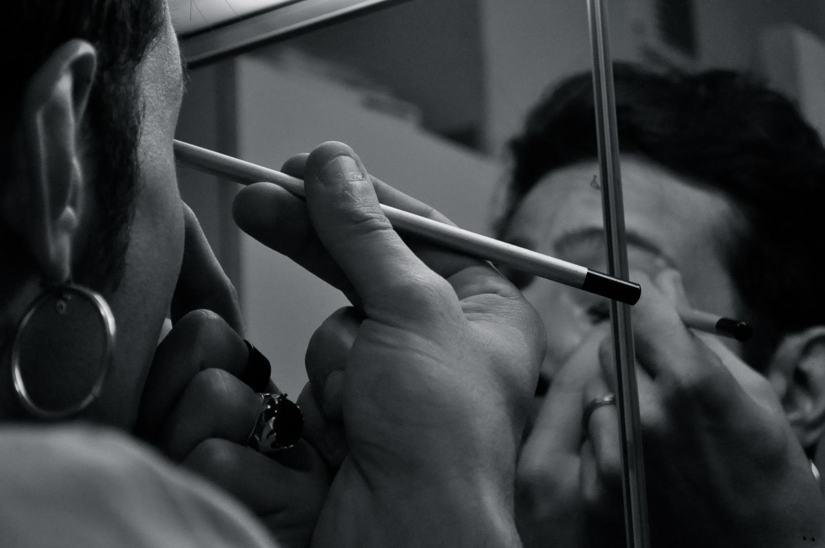 L'homme et le pinceau