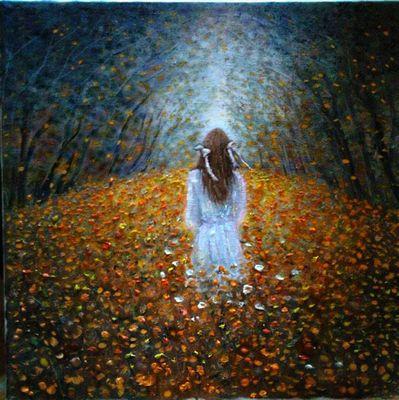 libertà verso la luce olio su tela