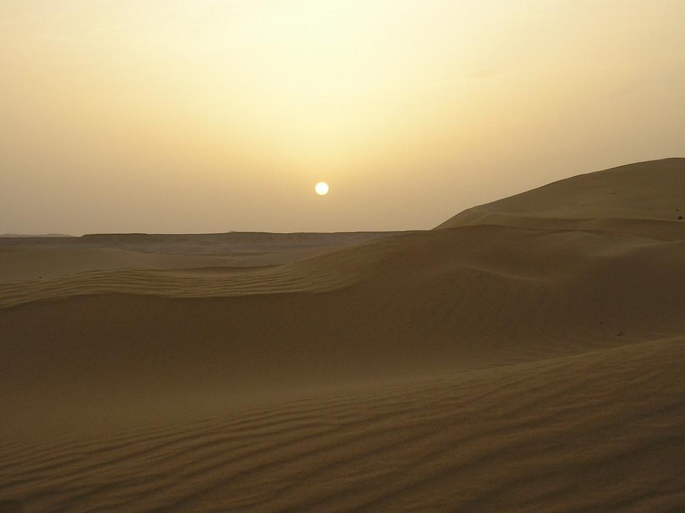 Libia: Tramonto sulle dune di Gadames