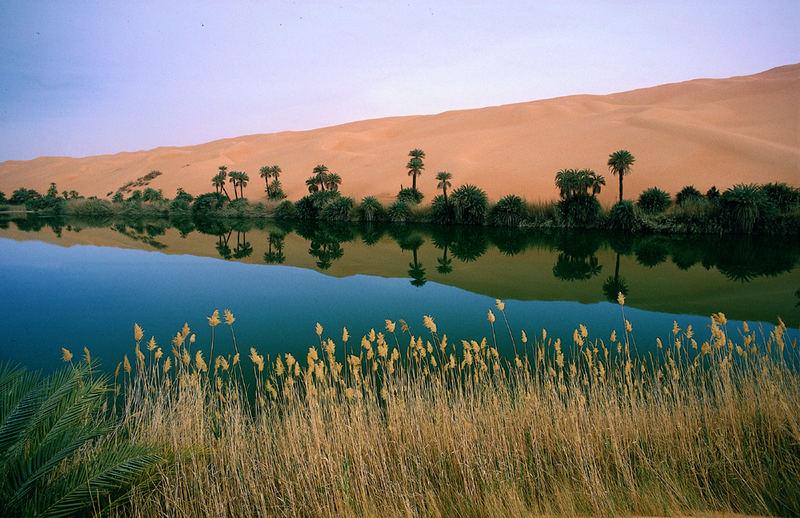 LIBYEN Mandarasee Um el Maa