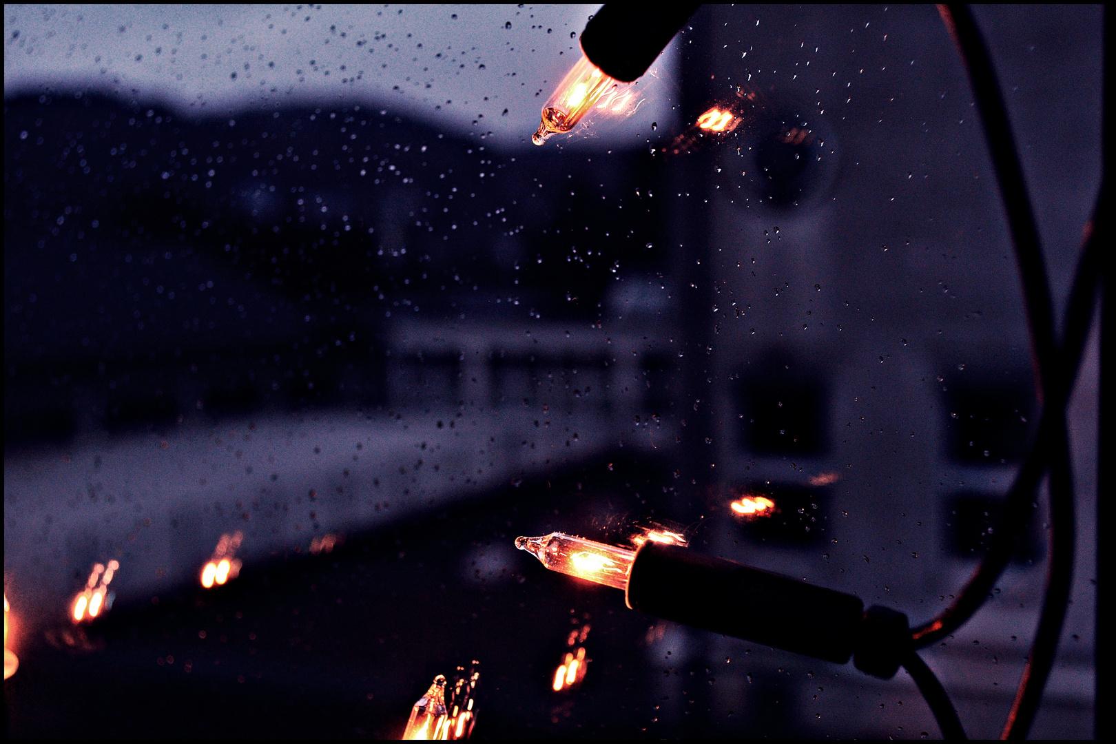 Licht am Fenster...