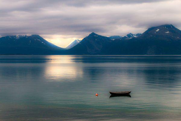 Licht am Lyngenfjord