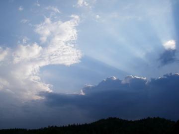 Licht breitet sich Strahlenförmig aus