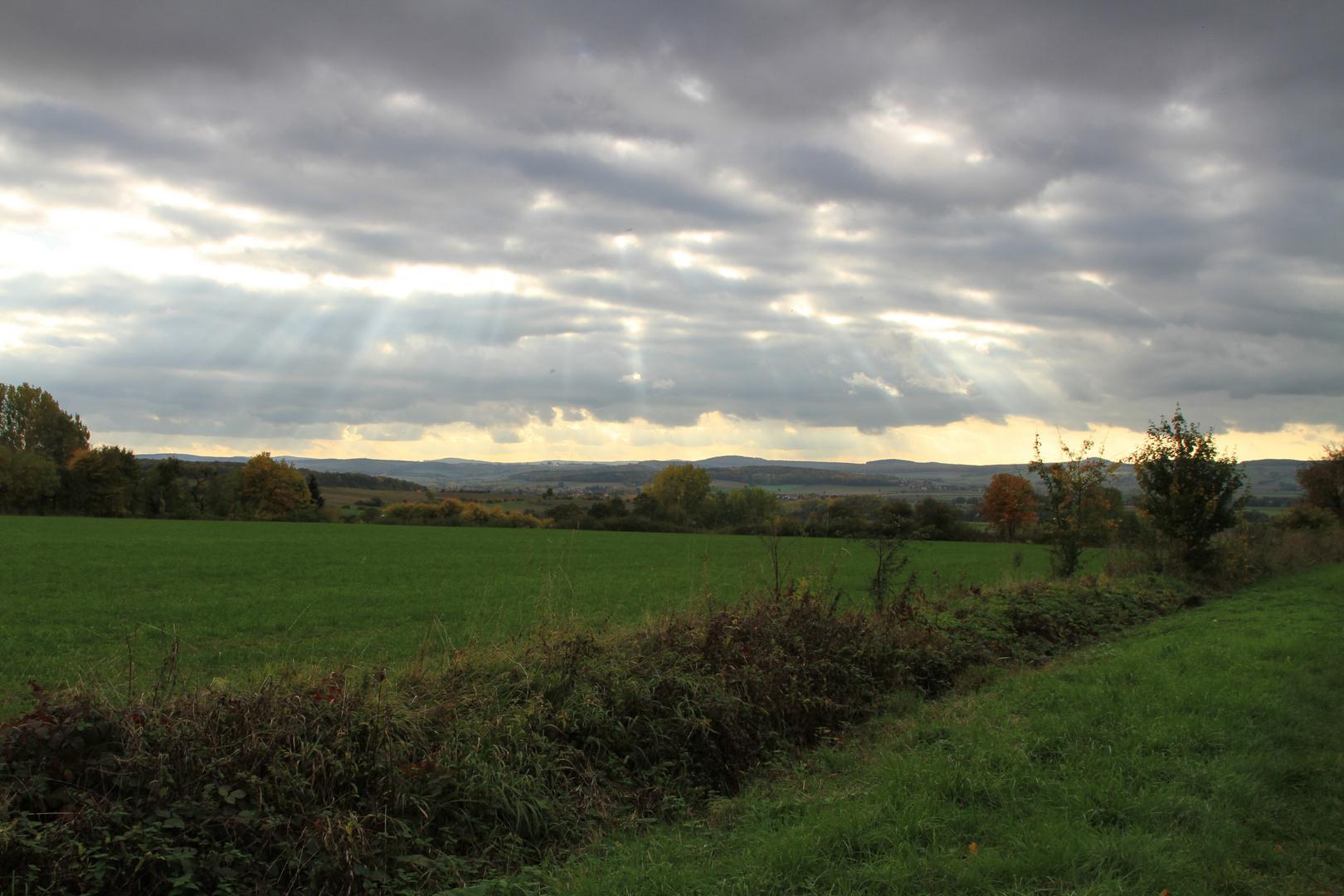 Licht durch die Wolken