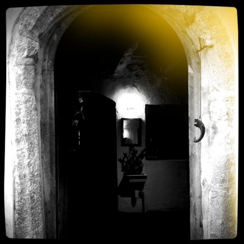 Licht hinter der Tür