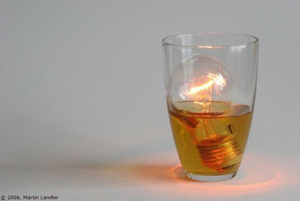 Licht im Glas