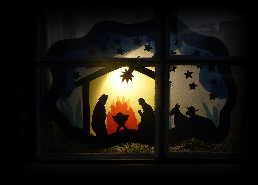 licht in der dunkelheit frohe weihnachten foto. Black Bedroom Furniture Sets. Home Design Ideas