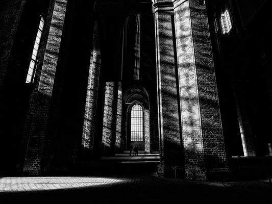 licht in der kirche ...