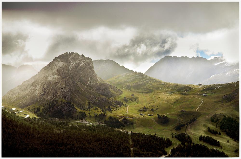 Licht und Berge