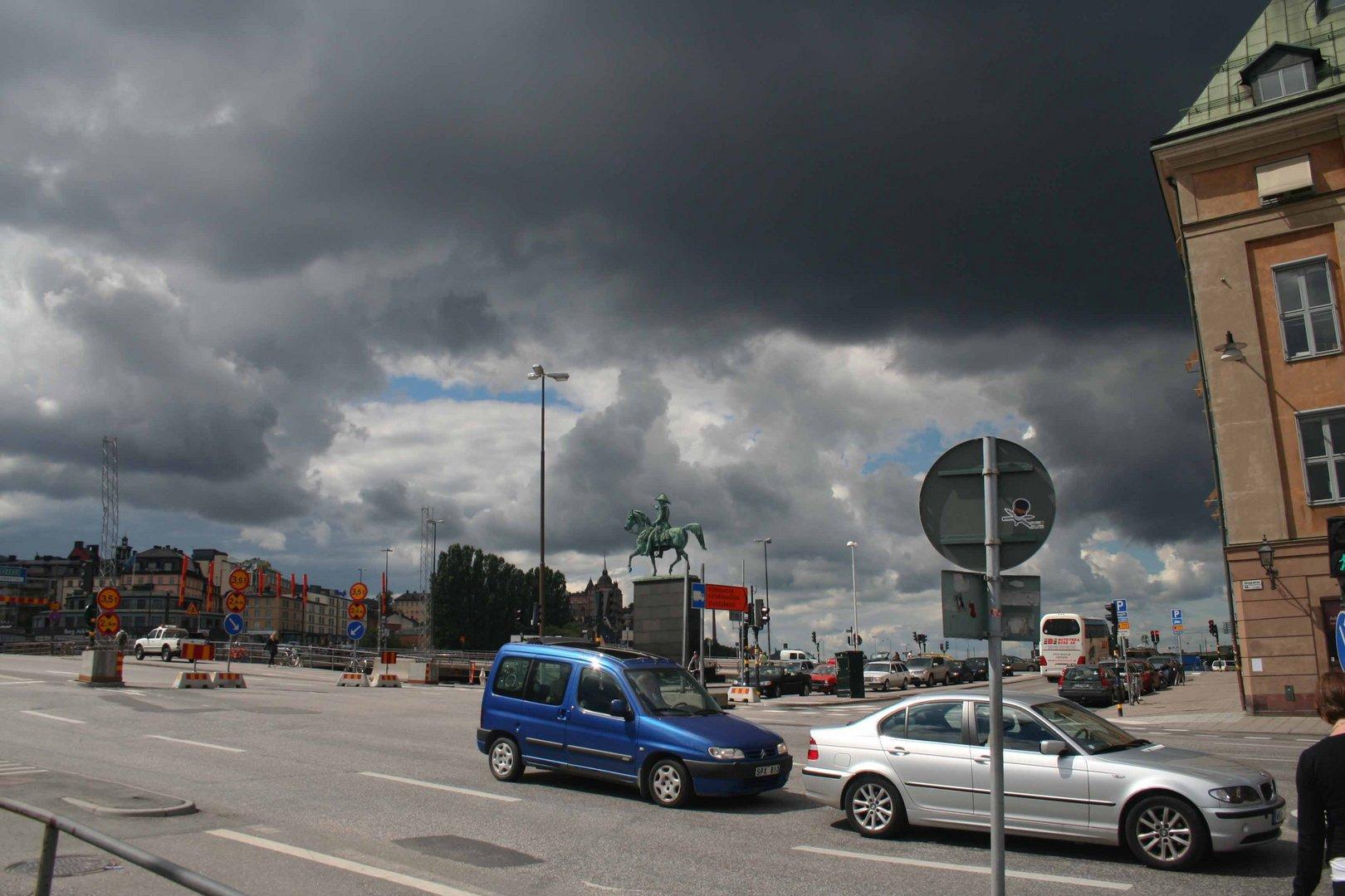 Licht und Schatten in Stockholm