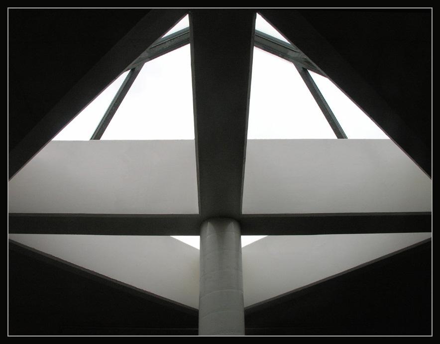 Licht- und Schattenspiel mit einem Oberlicht