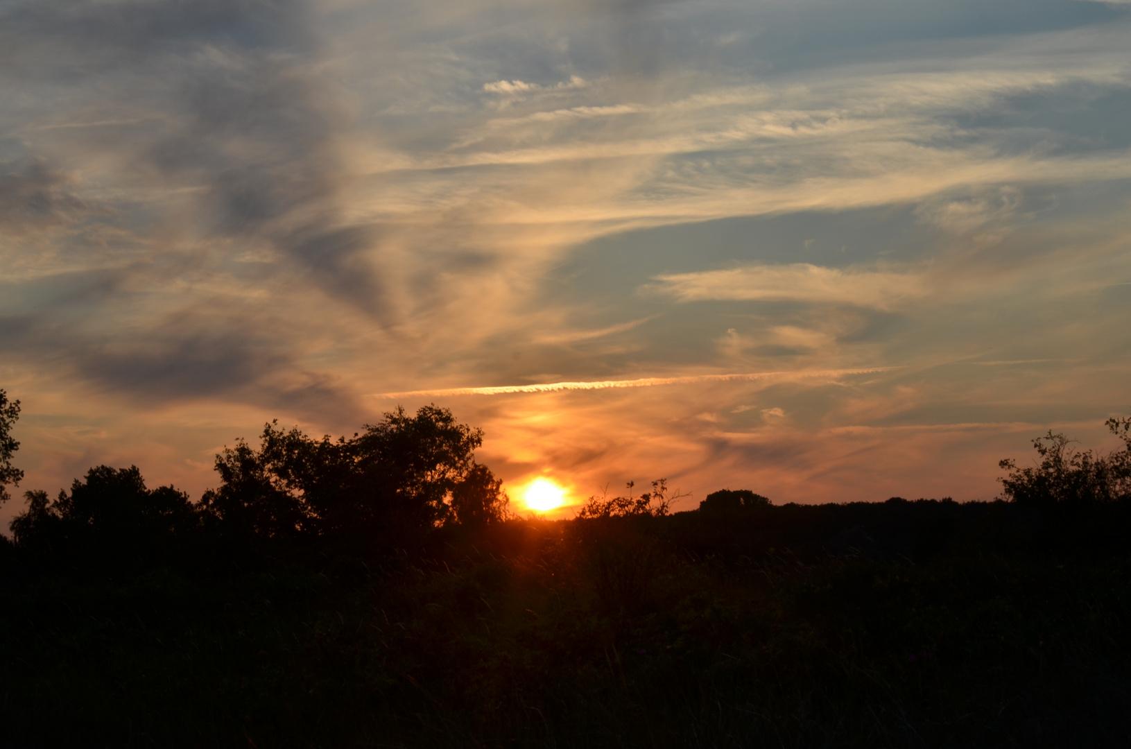 Licht-Wolken-spiel