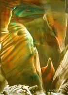 Lichtblick in eine Tropfsteinhöhle