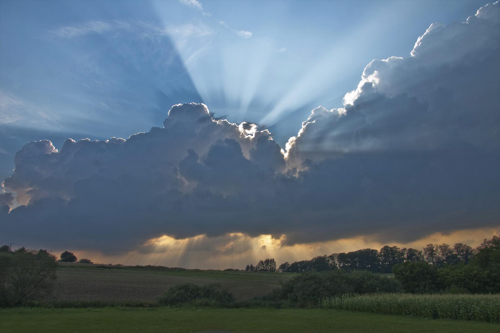 Lichtblick nach Gewitter
