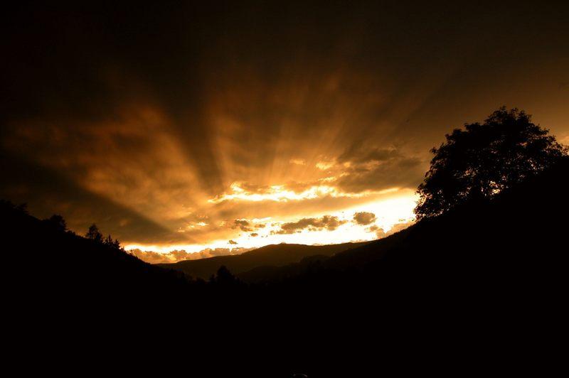 Lichtblick nach heftigem Gewitter