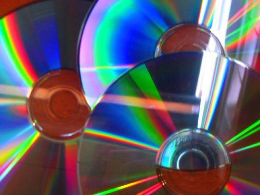Lichtbrechung in CDs