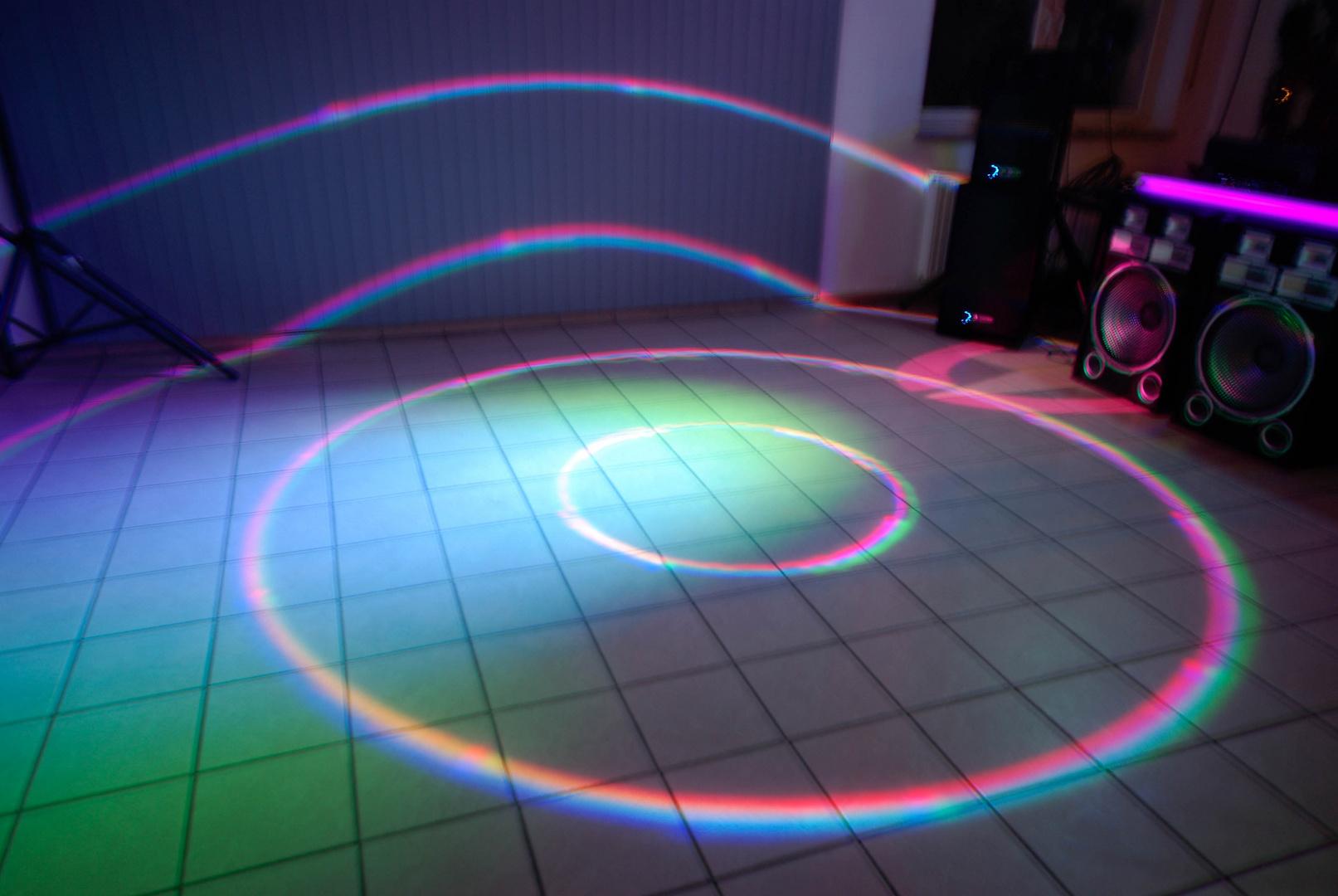 Lichteffekt bei einer Party