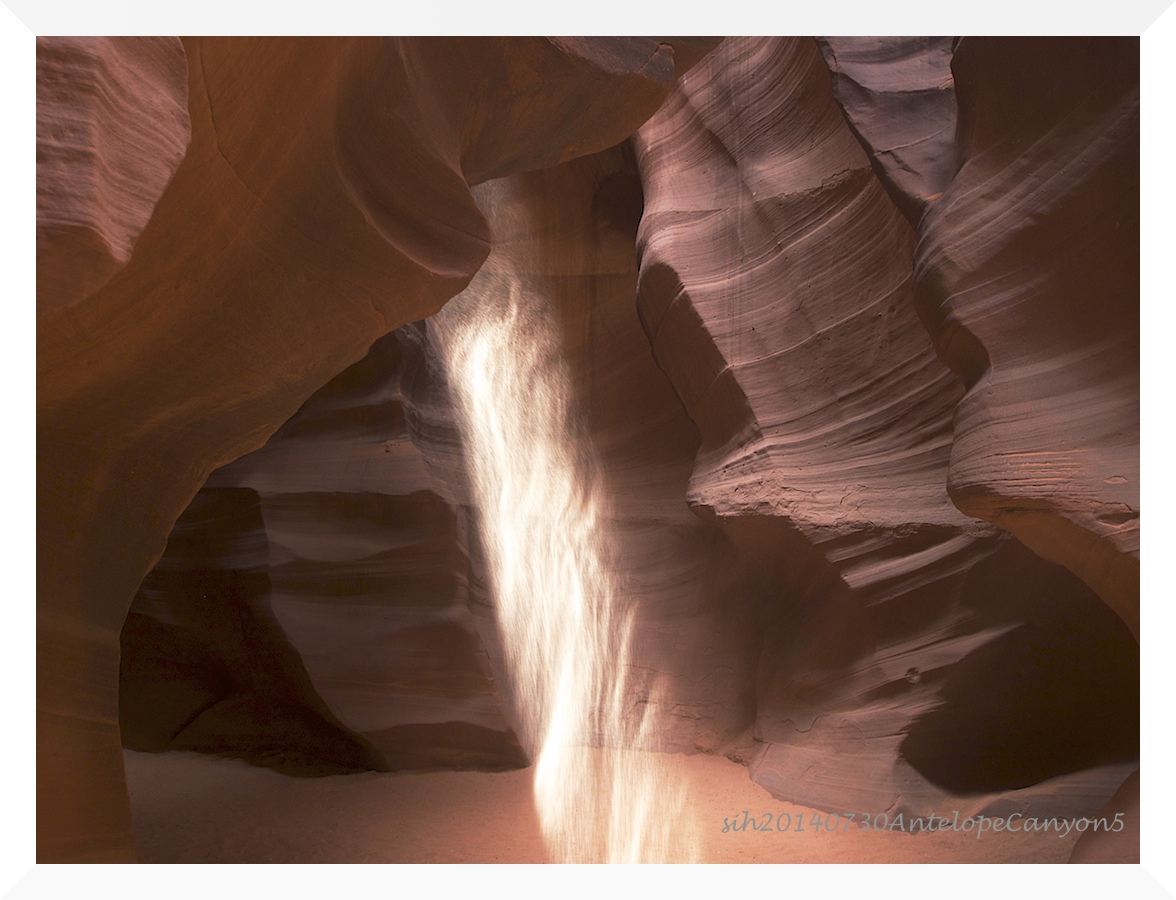 Lichteinfall in Antelope Canyon