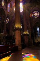 Lichteinfall in der Kathedrale von Palma