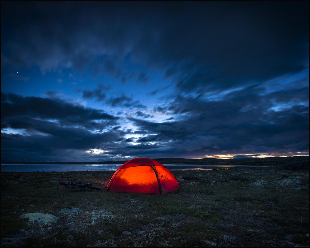 Lichter an auf dem Rendalsfjell