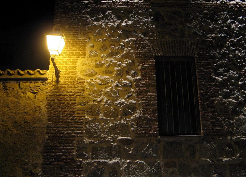 Lichter auf der Wand