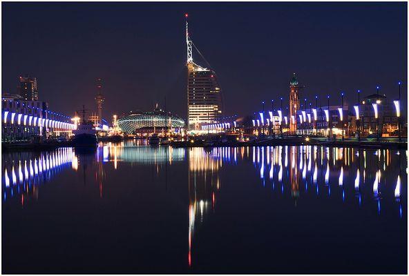Lichter im Hafen