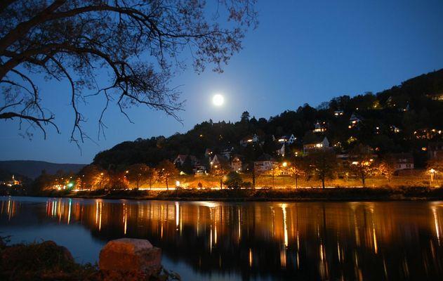 Lichter im Neckar